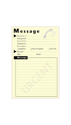 "Bloc de 50 ""MESSAGE TELEPHONIQUE""  format : 10 x 15 cm - lot de 12"