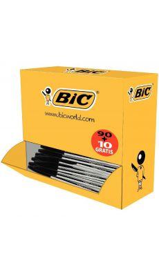 BIC - 278240 - Stylo bille cristal jetable pointe moyenne noir - Pack de 100