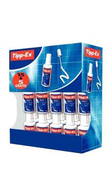 TIPP-EX - Flacon de 20 ml de blanc couvrant Tippex rapid - Pack de 20