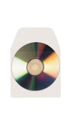 TARIFOLD - Pochettes adhésives pour CD/DVD avec rabat - Blister de 10