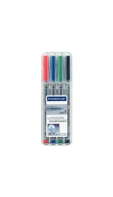 STAEDTLER - Feutres Staedtler lumocolor  non-permanent pointe fine 0,6mm assortis - pochette de 4