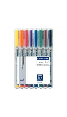 STAEDTLER - Feutres Staedtler lumocolor  non-permanent pointe fine 0,6mm assortis - pochette de 8