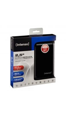 Intenso - 014125 - Disque Dur Portable 2.5 pouces - USB 3.0 - 500 Go