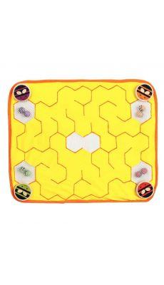 Le labyrinthe en tissu : la ruche d'abeille