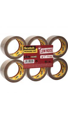 SCOTCH - Rouleaux adhésif d'emballage  66m - Polypropylène acrylique - Lot de 6