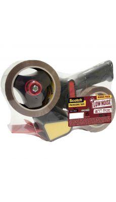 SCOTCH - Dérouleur H180 + 2 rouleaux adhésifs acrylique havane 50x66m