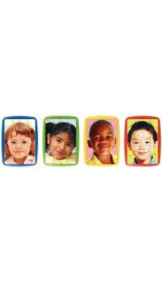 """Puzzles photo à cadre, de 20 pièces """"Les enfants du Monde"""" - Lot de 4"""