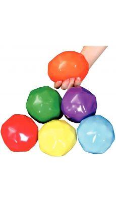 Balles Gel/Bille 9cm assorties - Lot de 6