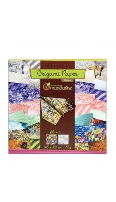 Feuilles Origami Urban 20x20cm - Pochette de 60