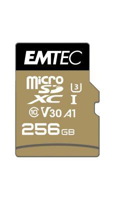Carte micro SD Emtec UHS I U3 V30 Speedin Pro 256 GO XC
