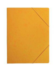 Coutal - C3116 J - Chemise carte lustrée sans rabat avec élastique - Jaune - 24x32 cm