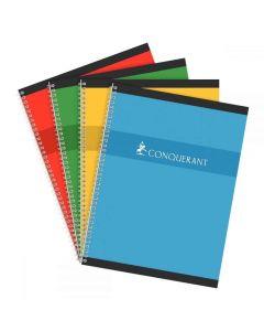 Conquerant - 100 103 996 - Cahier spirale grand carreaux - 24x32 cm - 180 Pages