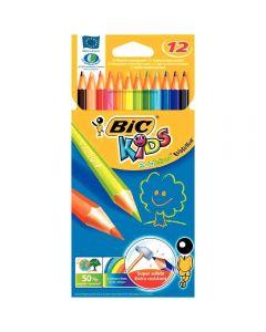 Bic kids - 060963 - Crayon de couleur évolution - Etui de 12